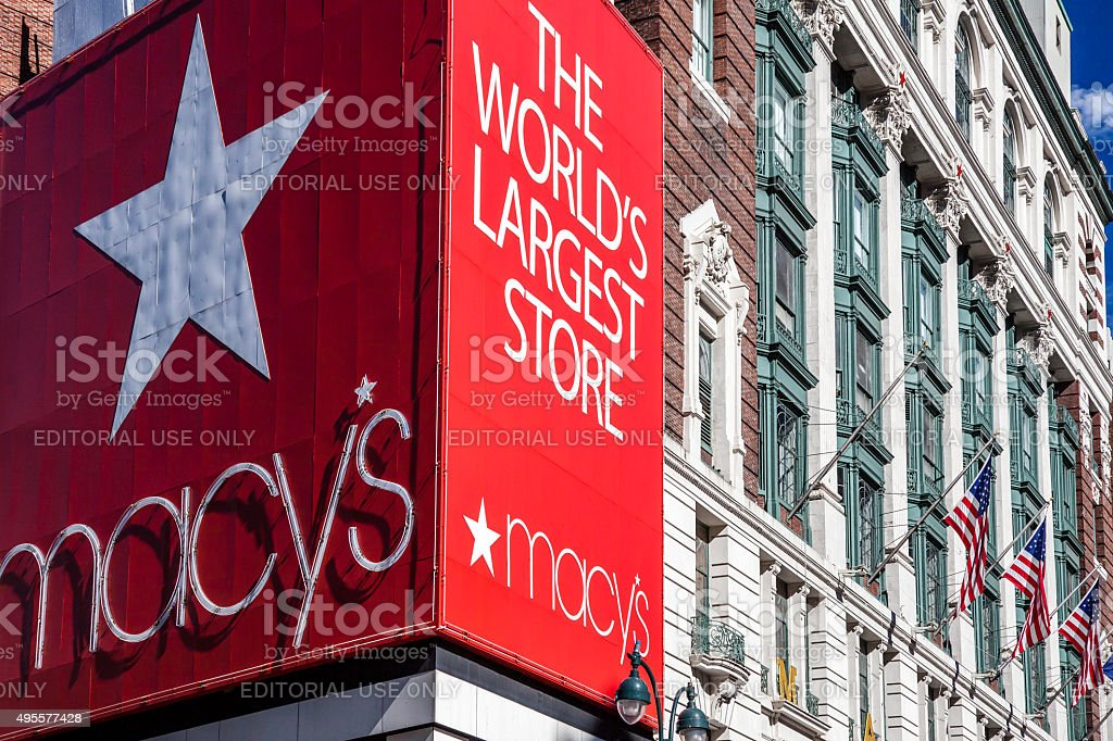 Famous Macy's store in New York City stock photo