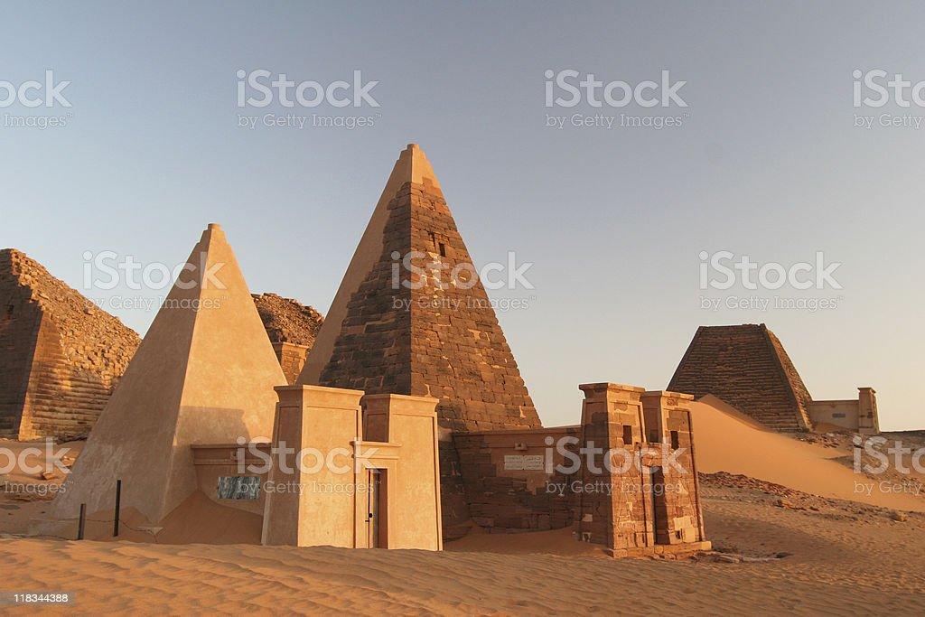 Famous Meroe pyramids stock photo