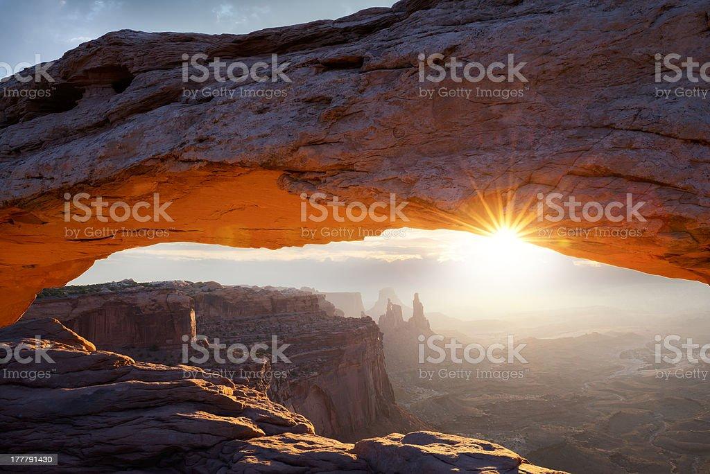 famous Mesa Arch stock photo