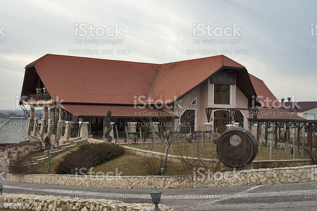 Famous Moldova winery Chateau Vartely stock photo