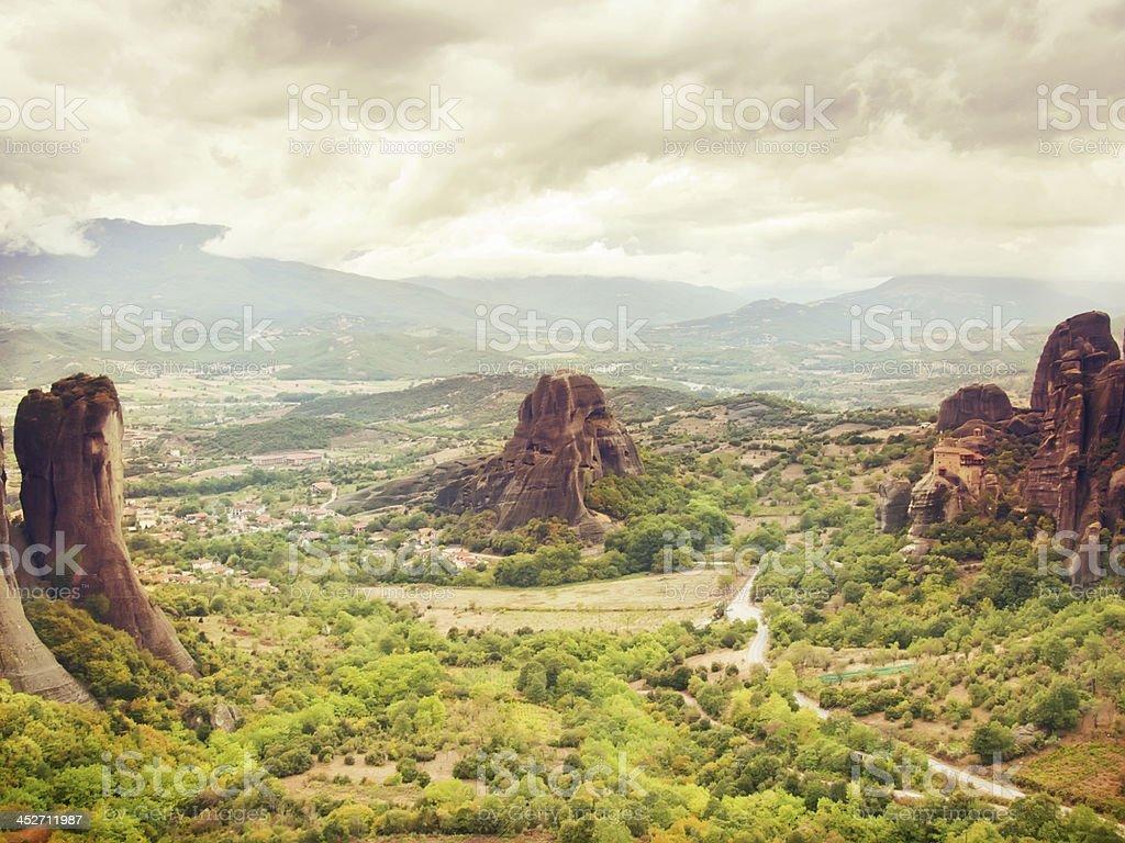 famous  monastery of  Meteora, Greece stock photo