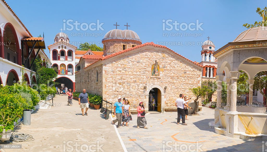 Famous monastery of Saint David at Evia. stock photo