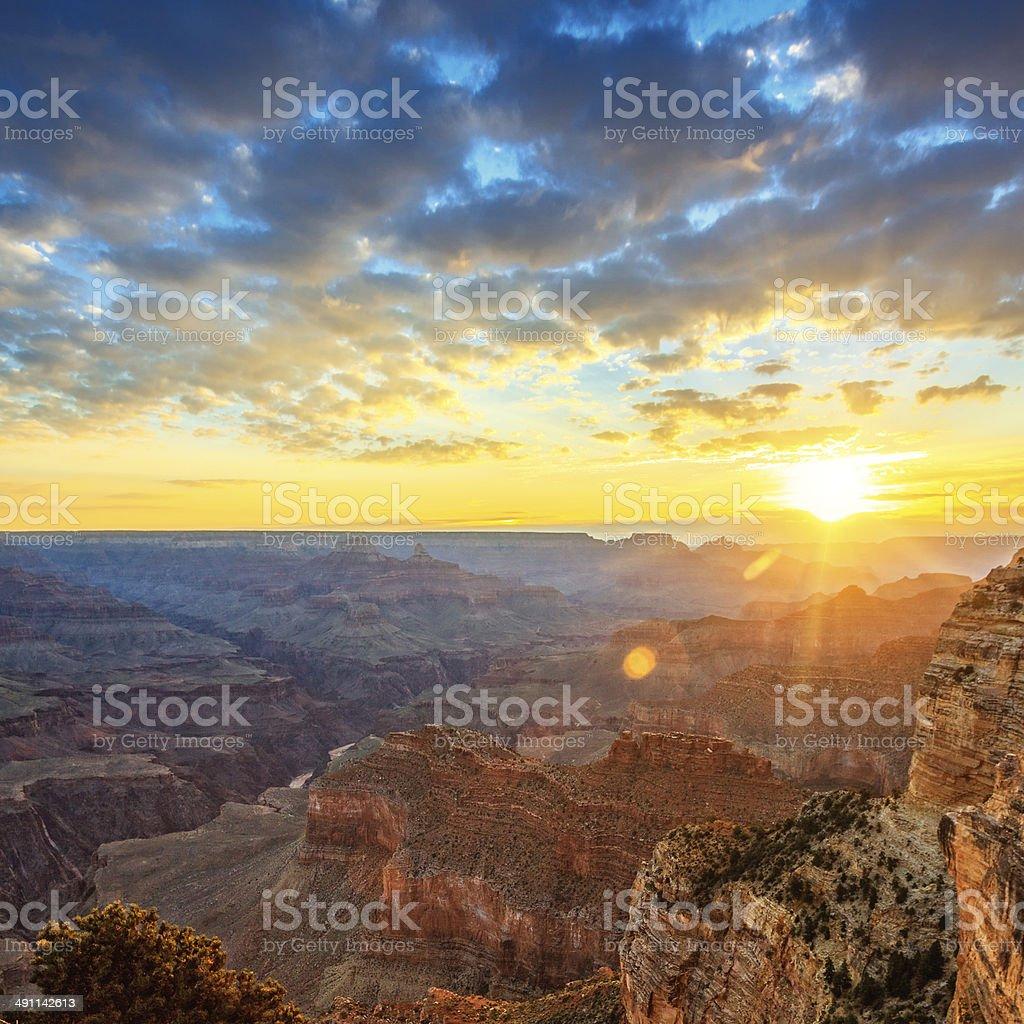 Famous morning light stock photo