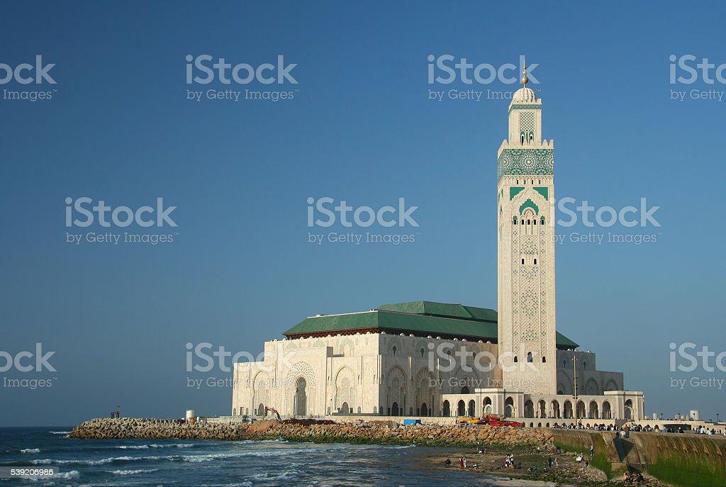 Famous Mosque in Casablanca stock photo