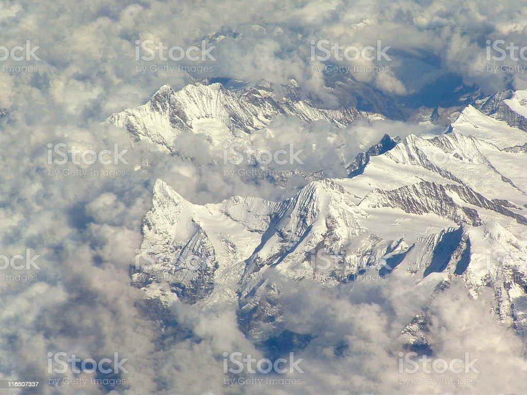 Famous mountains - Eiger, Mönch & Jungfrau (Alps) royalty-free stock photo