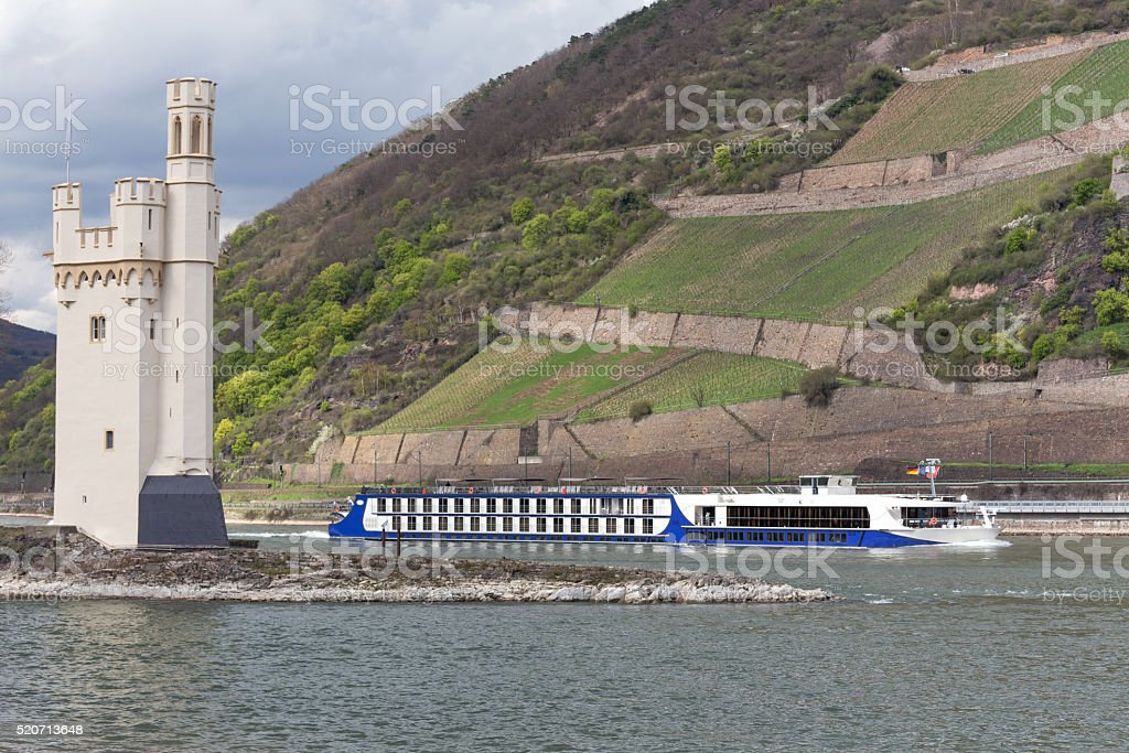 famous mouse tower bingen germany stock photo