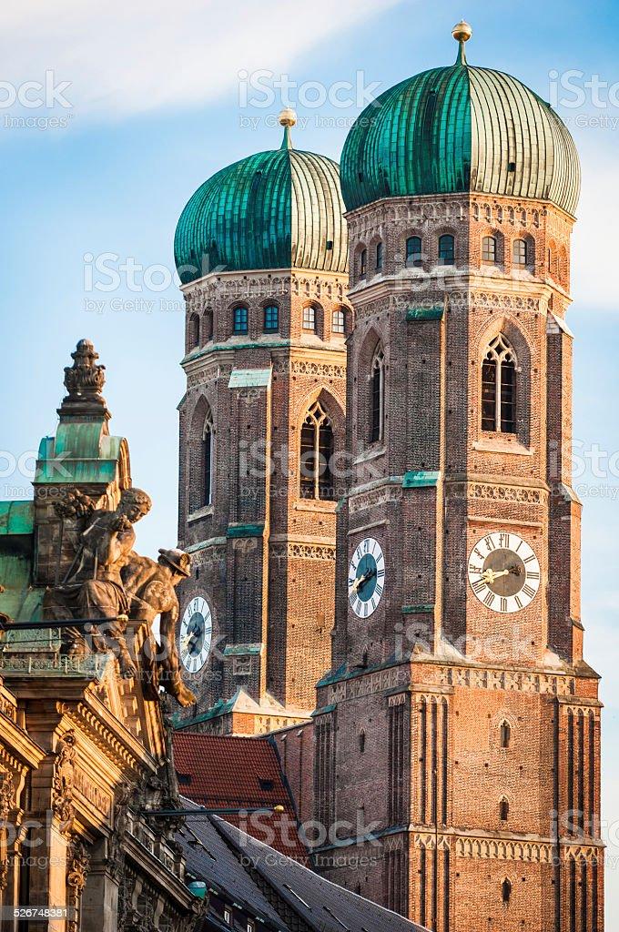 Famous Munich Cathedral - Liebfrauenkirche stock photo