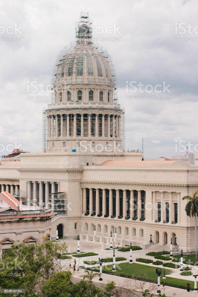 Famous National Capitol (Capitolio Nacional) stock photo