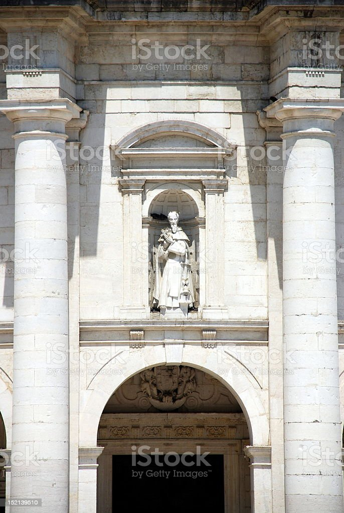 Famous National Pantheon in Lisbon royalty-free stock photo