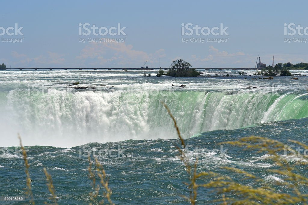famous Niagara Fall on a summer day royalty-free stock photo
