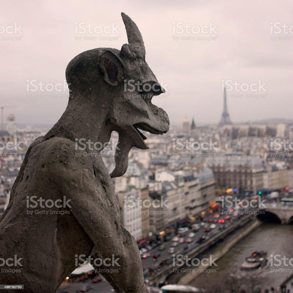 Famous Notre Dame Gargoyle stock photo