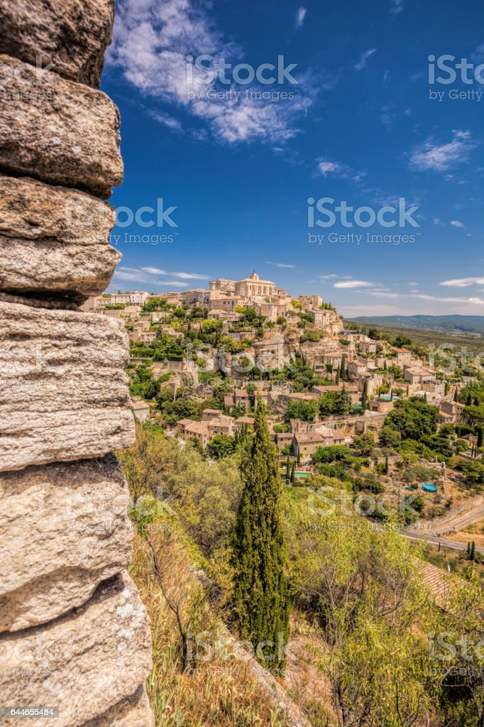 Famous old village Gordes in Provence, France stock photo