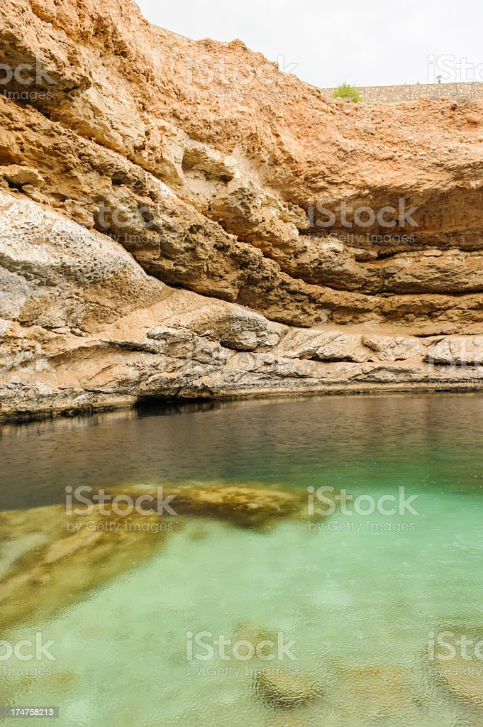 Famous Oman Sinkhole royalty-free stock photo