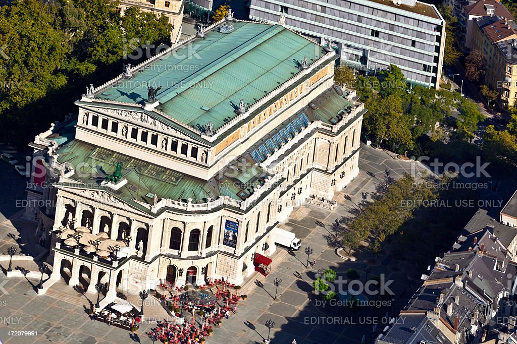 famous Opera house in Frankfurt, the Alte Oper, Germany stock photo