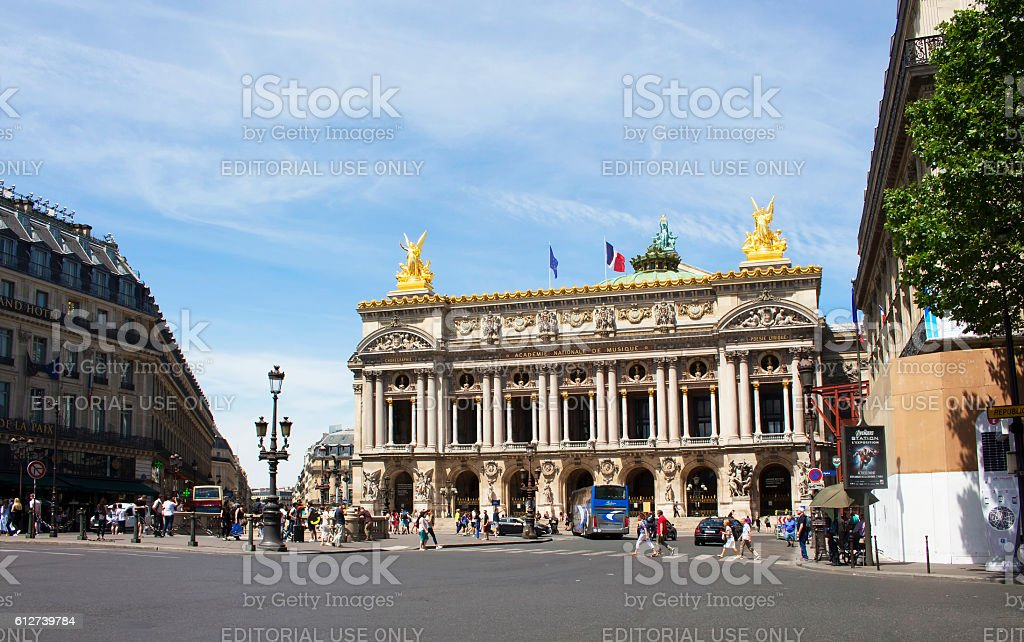 Famous opera house in Paris. stock photo