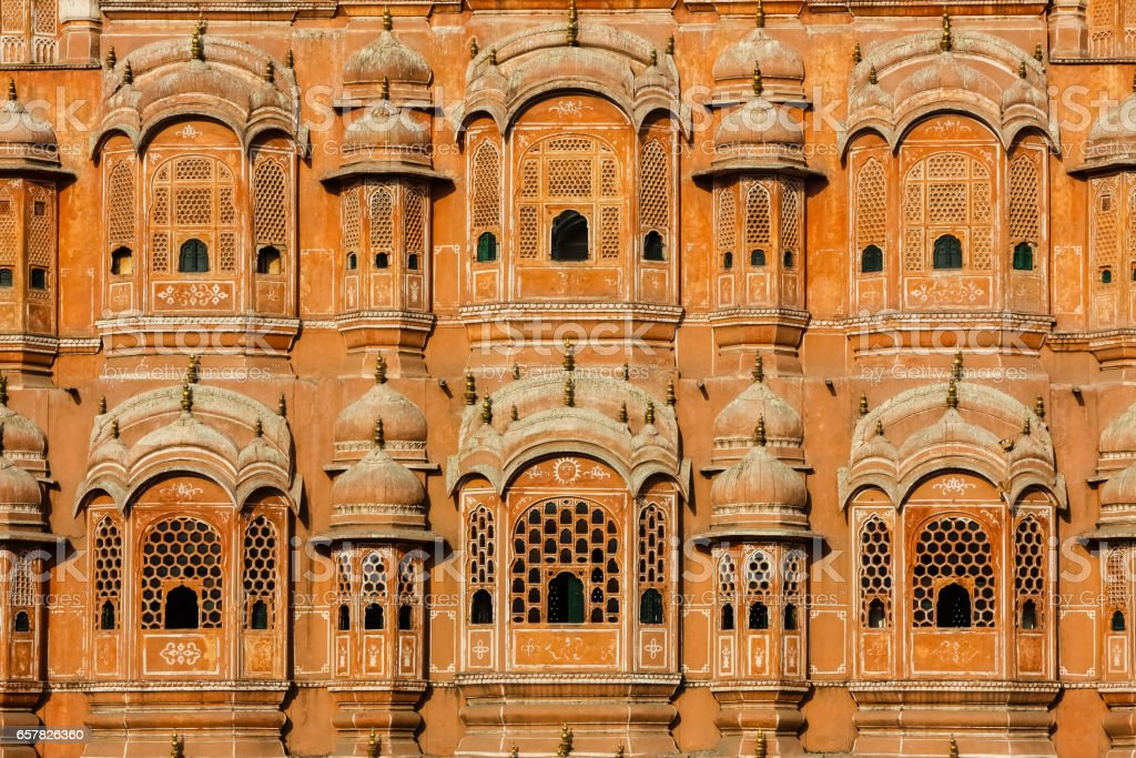 Famous Palace of Winds or Hawa Mahal, stock photo