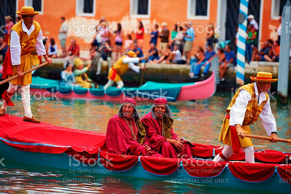 Famous parade in Venice. Color Image royalty-free stock photo