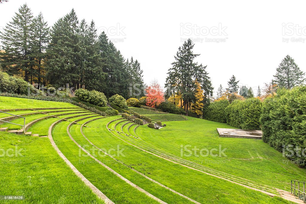 famous park in portland stock photo