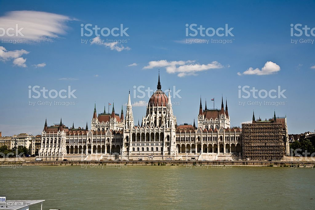 famous parliament of Hungary in Budapest royalty-free stock photo