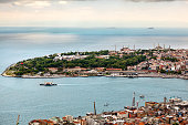 Famous peninsula of Istanbul. Old city.