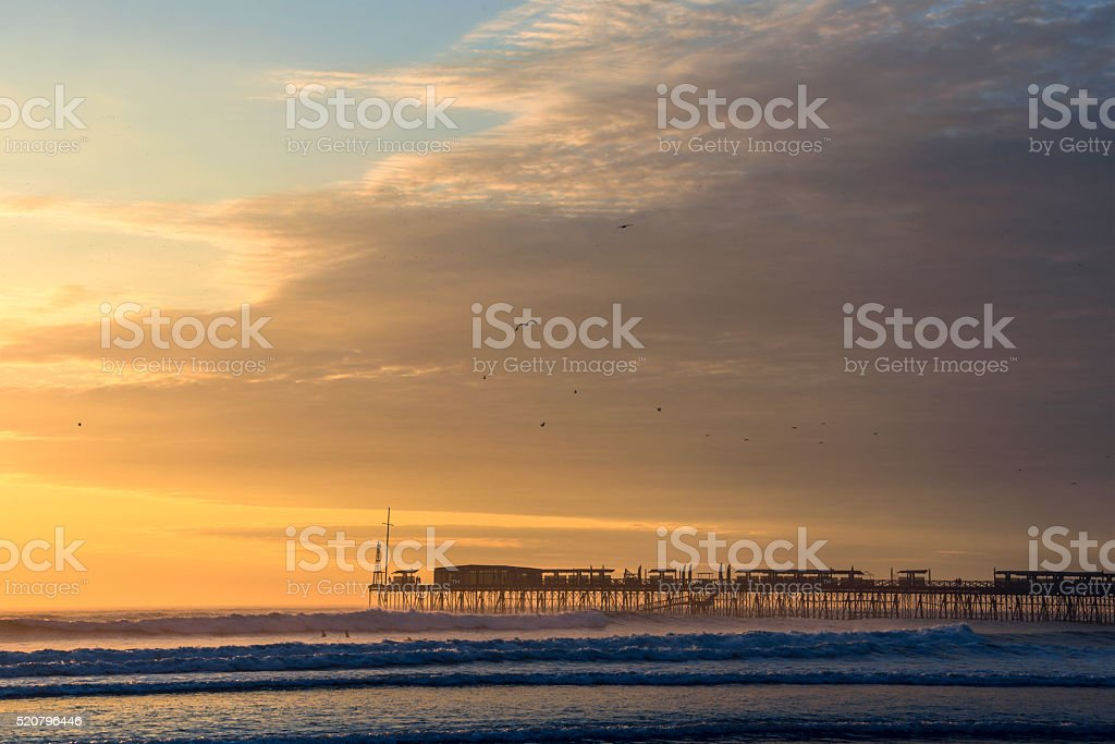 Famous pier at Pimentel. Peru, South America stock photo