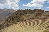 Famous Pisaq terraces during the dry season