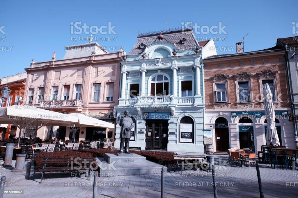 famous place in Novi Sad, Serbia stock photo