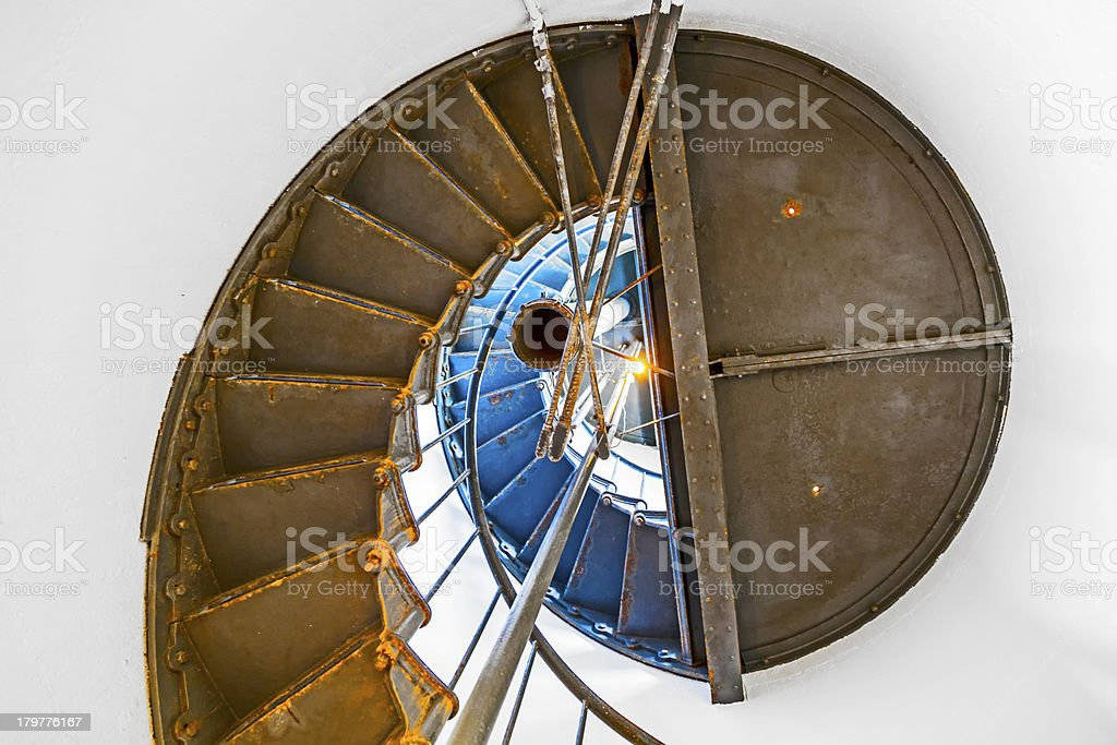 famous Point Arena Lighthouse in California royalty-free stock photo