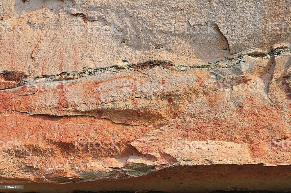 Famous prehistoric rock painting royalty-free stock photo