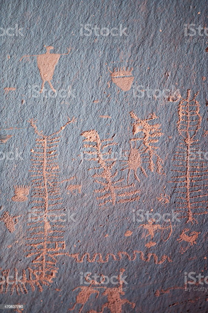 Famous prehistoric rock paintings stock photo