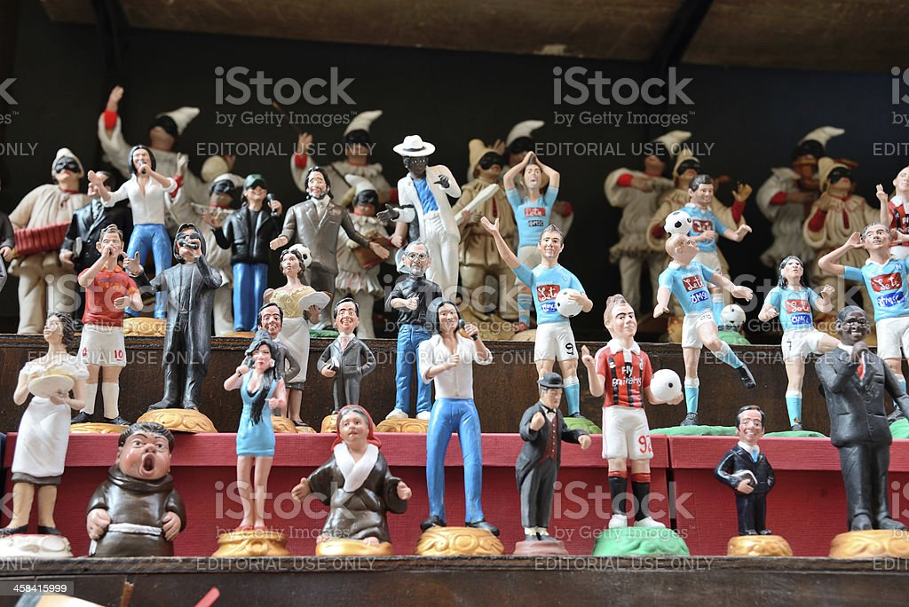 famous puppets by Naples stock photo