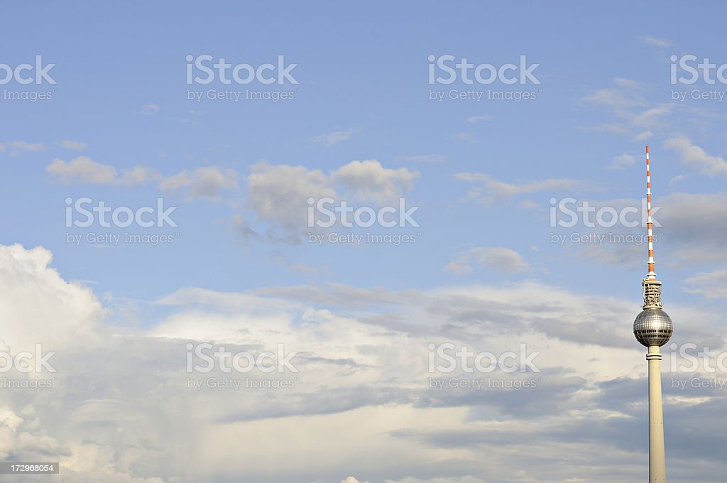 famous radiotower in berlin stock photo