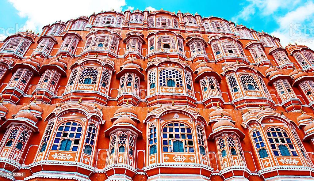 Monument célèbre Rajasthan, le palais Hawa Mahal palace, Jaipur, Inde photo libre de droits