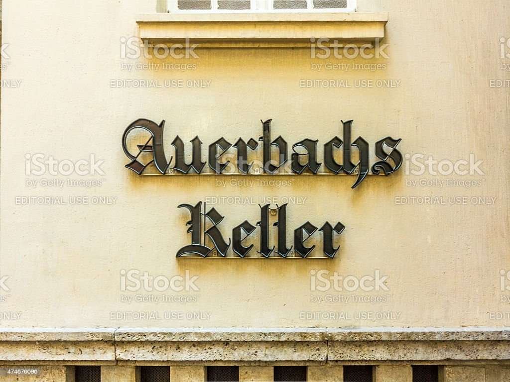 famous restaurant Auerbachs Keller stock photo