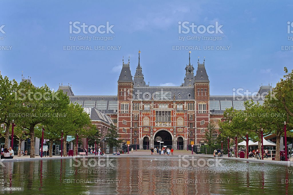 Famous Rijksmuseum in Amsterdam stock photo