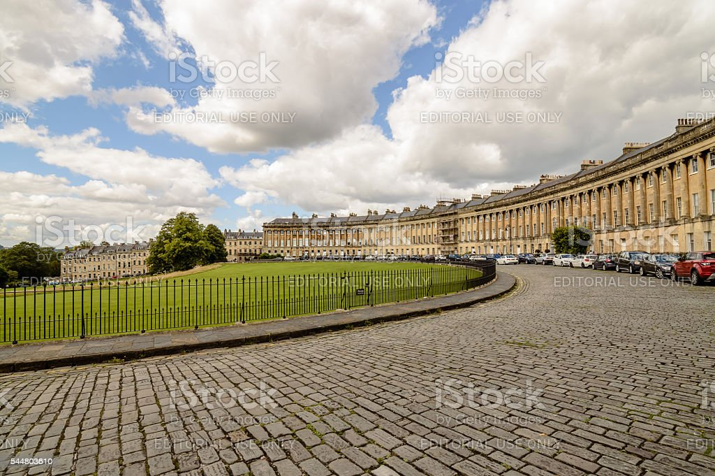 Famous Royal Crescent in Bath stock photo