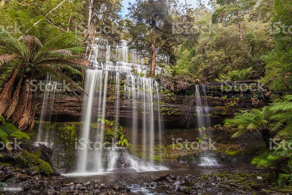 Famous Russel Falls, Mount Field National Park, Tasmania stock photo