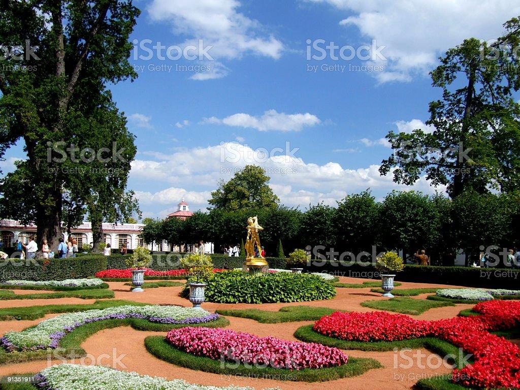 Famous Russian landmark - Peterhof royalty-free stock photo