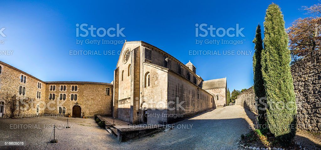 famous Senanque Abbey stock photo