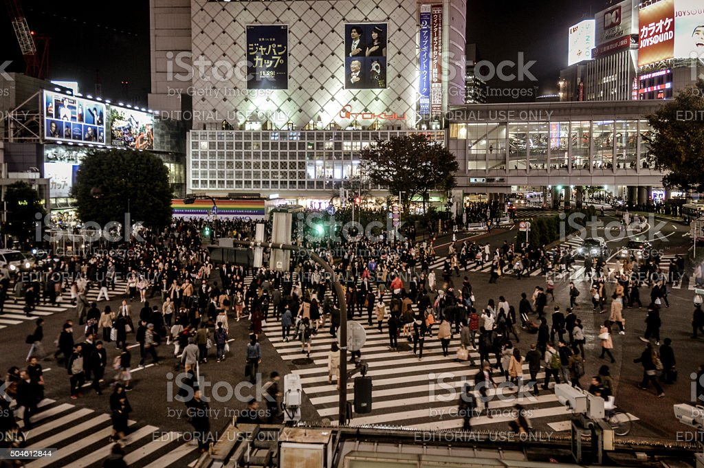 Famous Shibuya Crossing - Tokyo stock photo