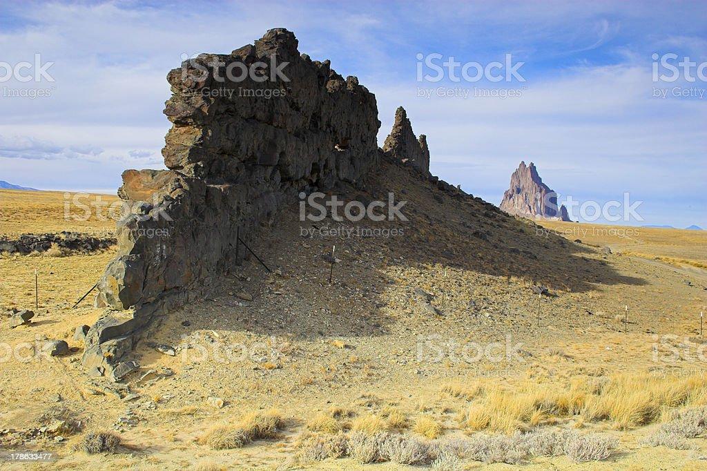 Famous Ship Rock stock photo