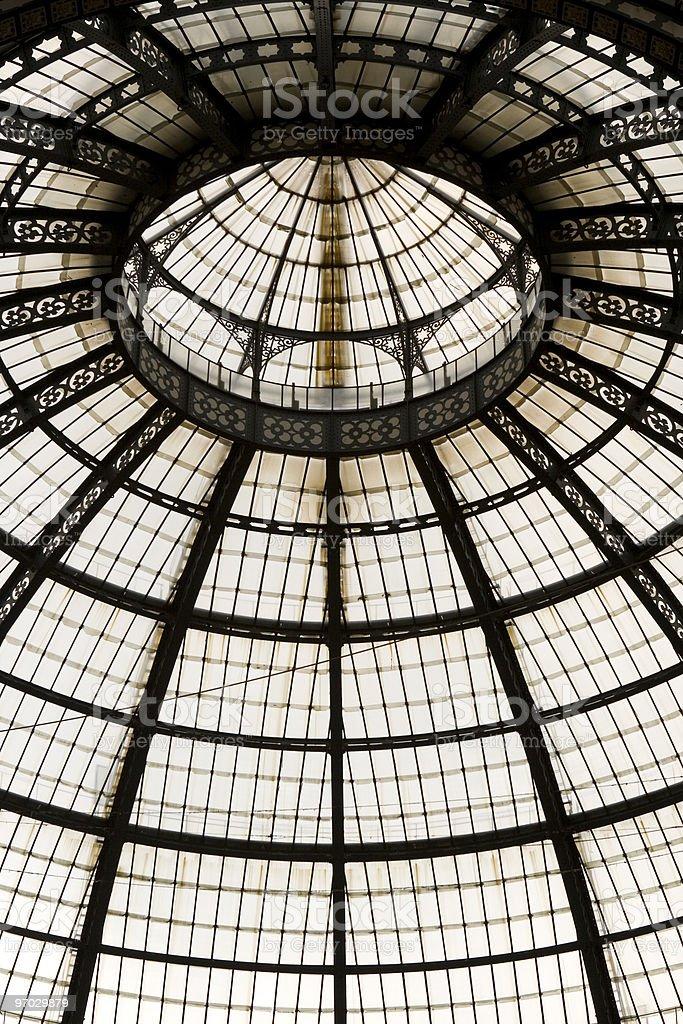 Famous shopping center Vittorio Emanuele in Milan, Italy. royalty-free stock photo