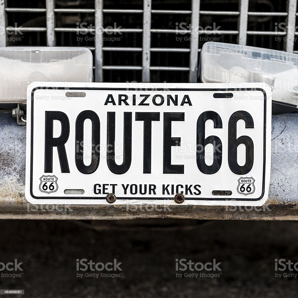 famous sixty six sign stock photo