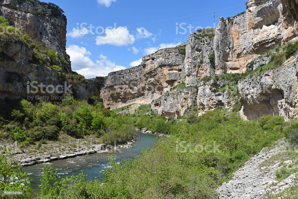 Famous Spanish canyon Foz de Lumbier stock photo