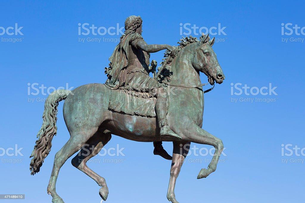 Famous statue of Louis XVI stock photo