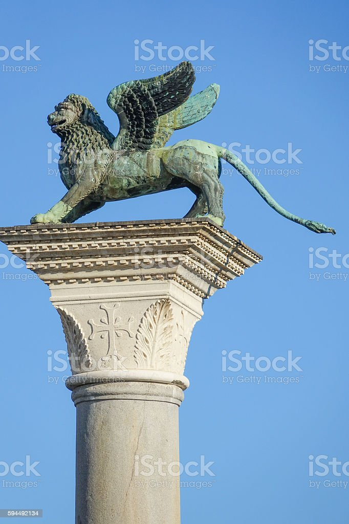 Famous statues at St Mark s square - San Marco Lizenzfreies stock-foto