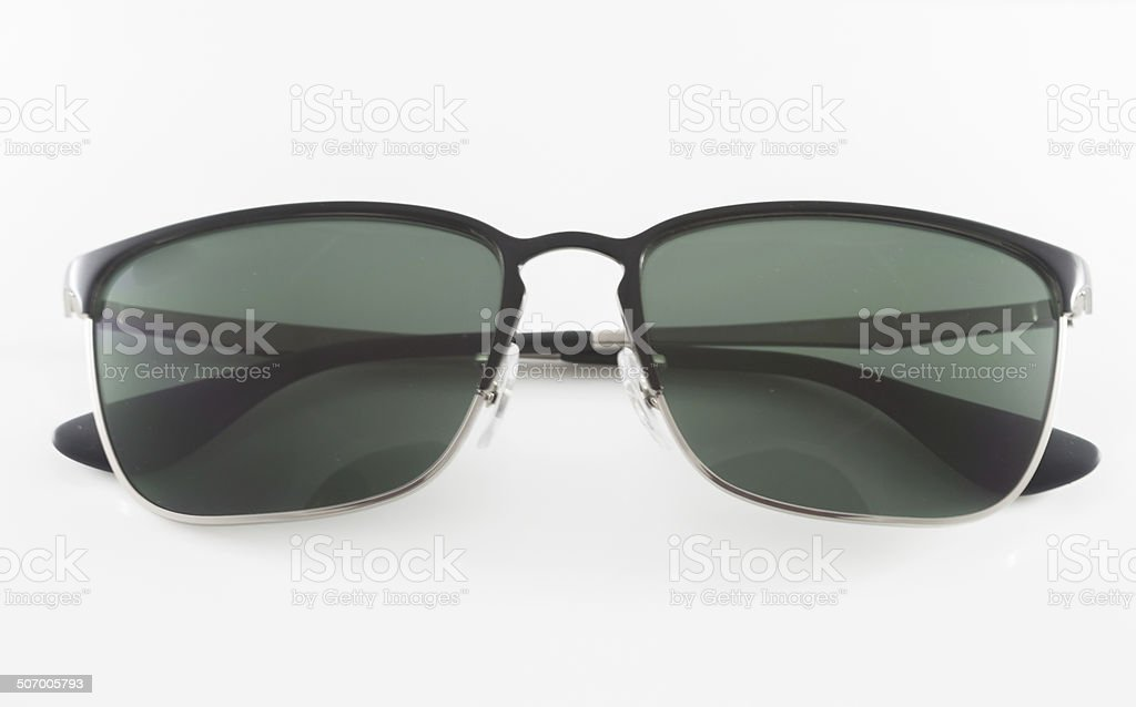 Famous style sunglasses isolated on white background royalty-free stock photo