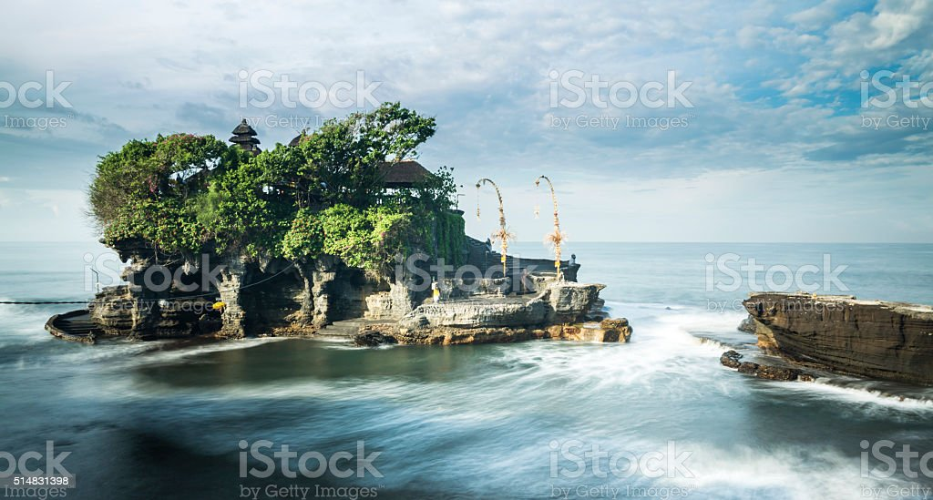 Famous Tanah Lot temple in Bali stock photo