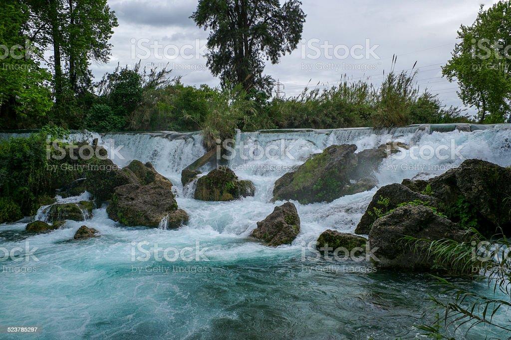 famous tarsus berdan waterfall at mersin turkey stock photo