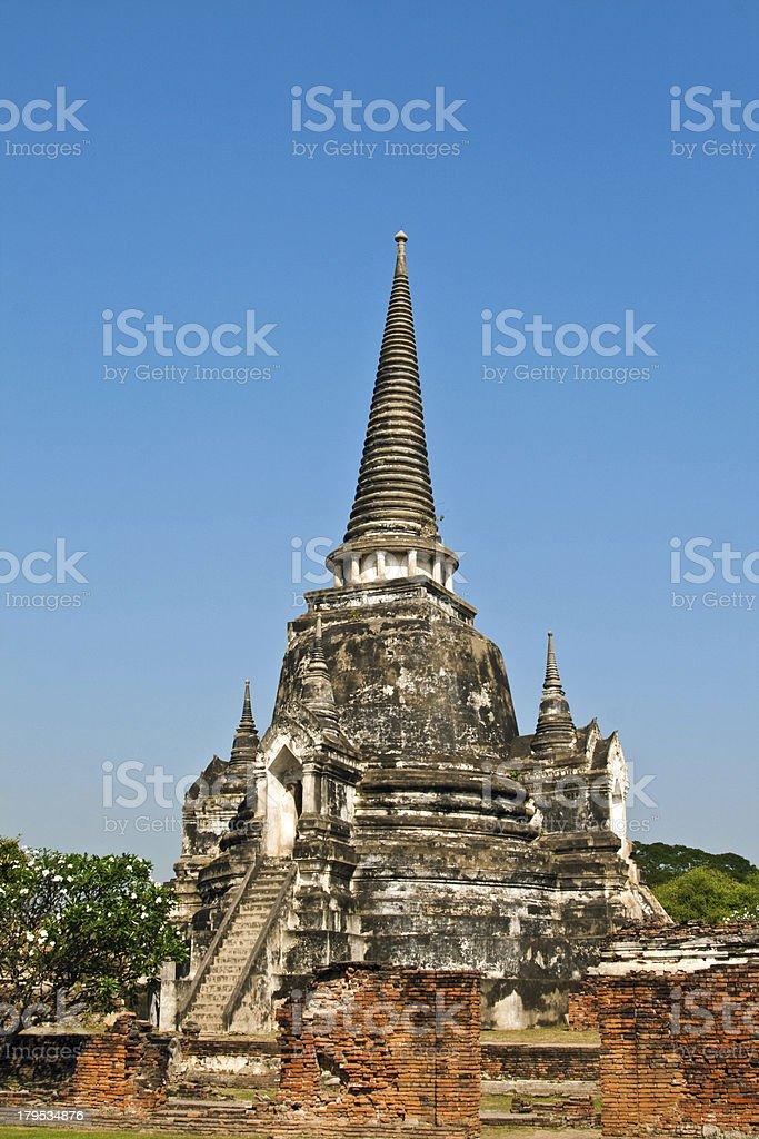 famous temple area Wat Phra Si Sanphet royalty-free stock photo
